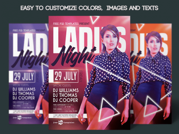 Fantastic Ladies Night Flyer PSD Template
