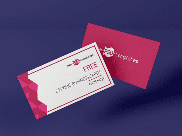 Flyers Business Cards Free PSD MockUp