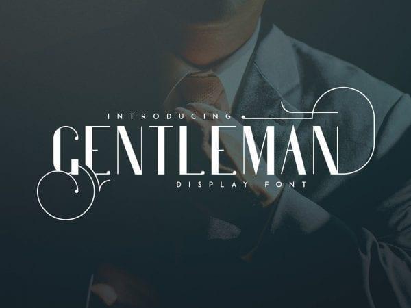 Gentleman Retro Sans Serif Fonts