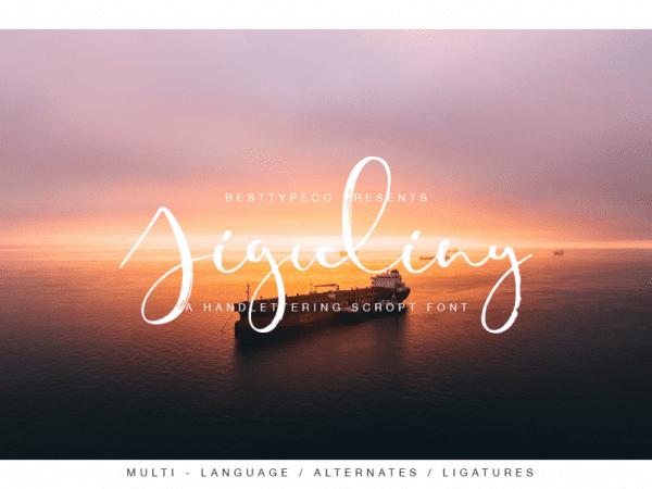 Jiguliny Handmade Calligraphy Font