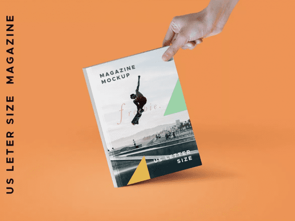 Magazine And A4 paper PSD Mockup Template