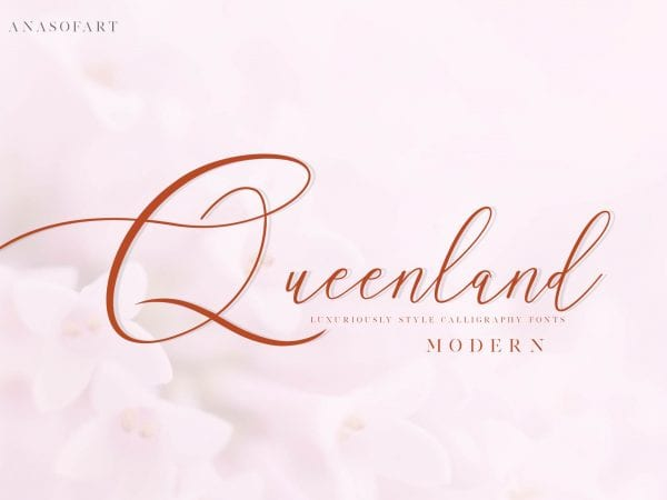 Queenland Handwritten Calligraphy Font 1