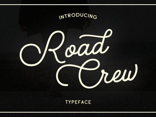Road Crew Handwritten Calligraphy Font