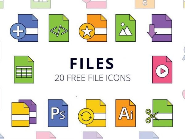 Set Of 20 Files Free Icons