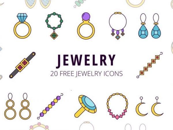 Set Of 20 Free Jewelry Icon