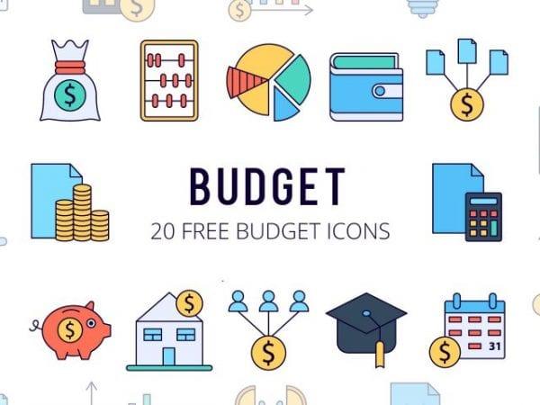 Set Of 20 high-quality Budget Free Icons