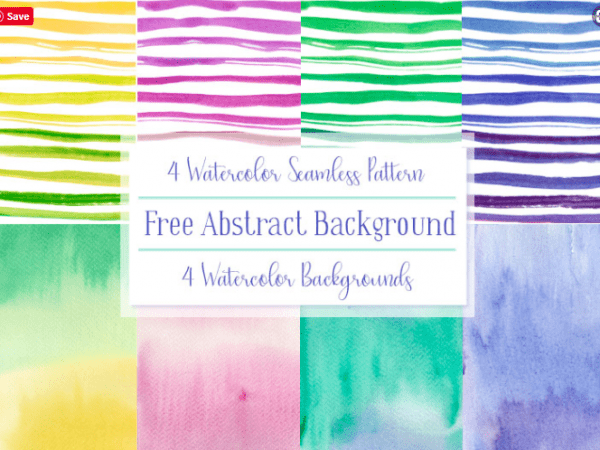Set Of 4 Abstract Watercolor Background