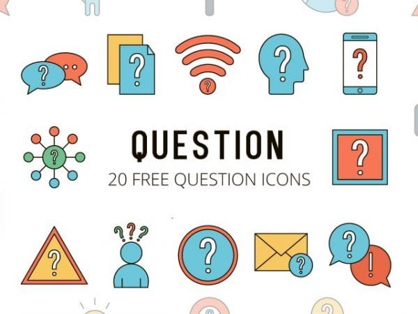 Set Of Free Question Icon