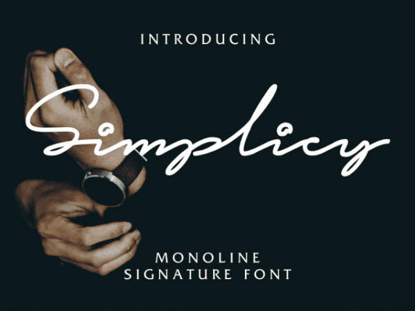 Simplicy Handwritten Signature Font