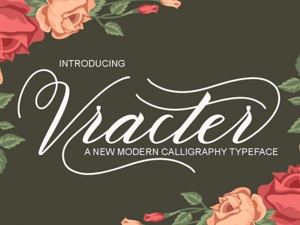 Vracter Handmade Calligraphy Font