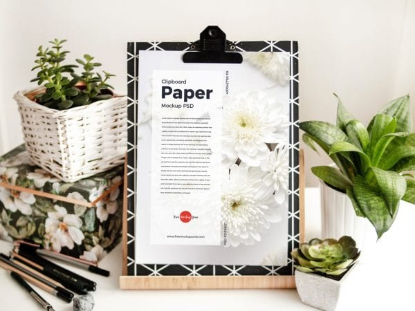 Amazing Paper Clipboard PSD MockUp Template