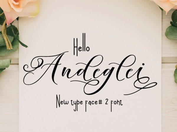 Andeglei Sans Serif Typeface