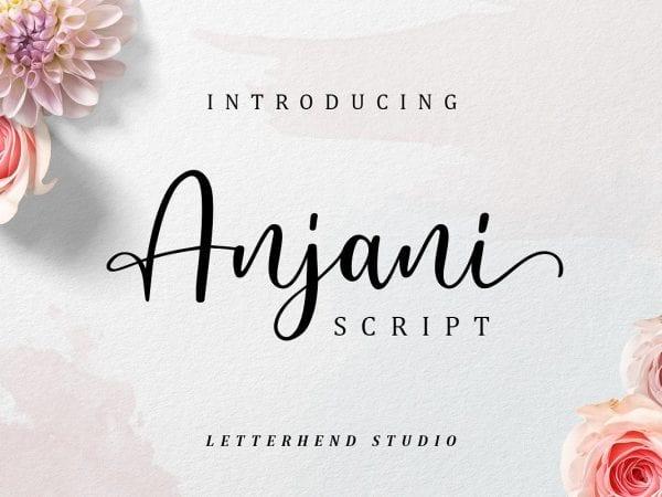 Anjani - Modern Calligraphy Script Font