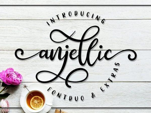 Anjellic Calligraphy Script Font