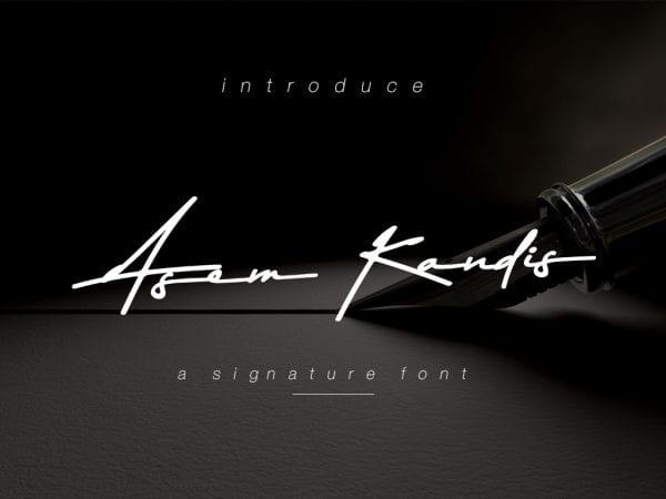 Asem Kandis Handwritten Signature Font
