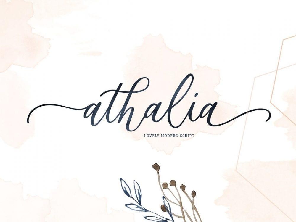 Athalia Luxury Calligraphy Script Font