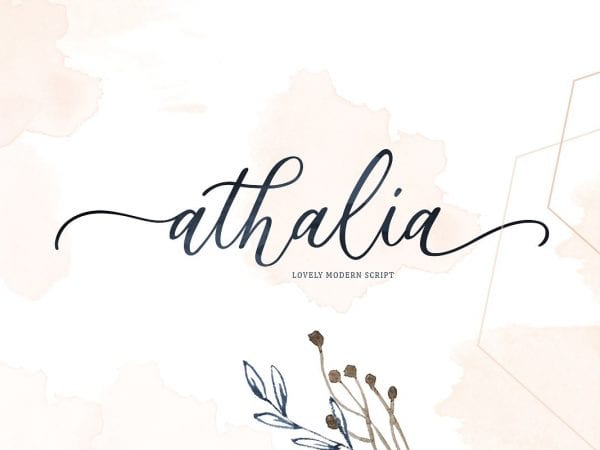 Athalia Luxury Calligraphy Script Font
