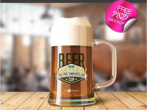 Awesome Beer Cup Mockup PSD Template