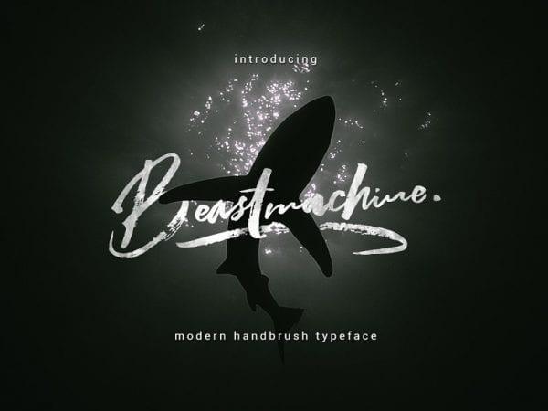Beastmachine Elegant Brush Script Typeface