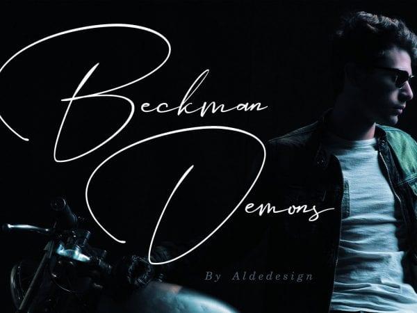 Beckman Demons Handwritten Signature Font