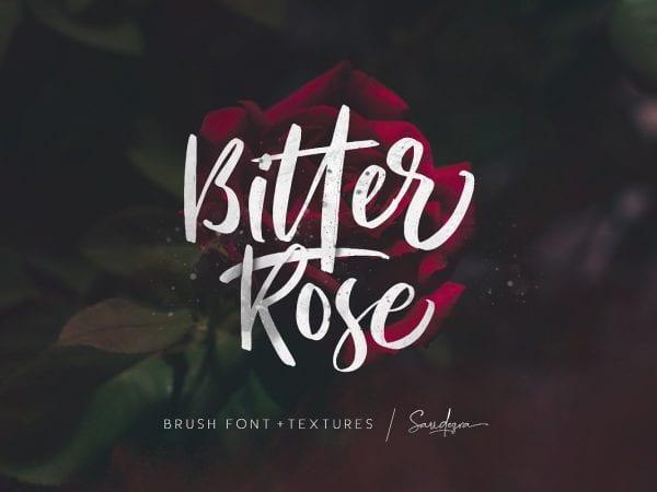 Bitter Rose Brush Script Font