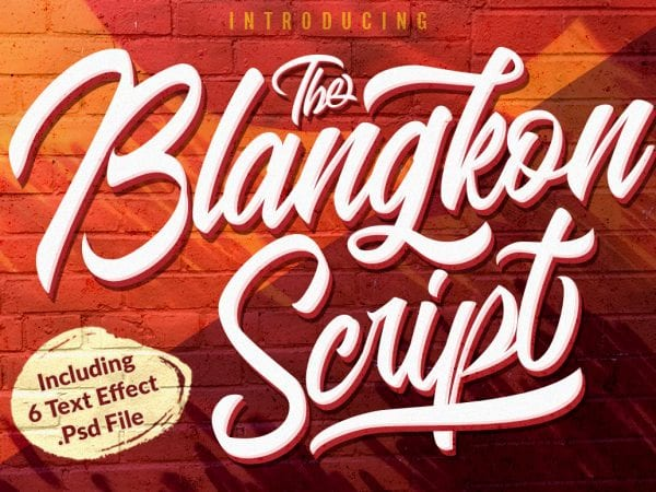 Blangkon Calligraphy Script Font