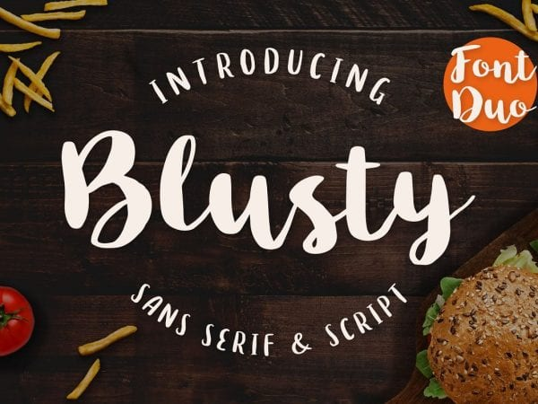 Blusty Handwritten Brush Font