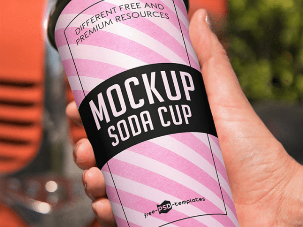 Cute Soda Cup MockUp PSD Template
