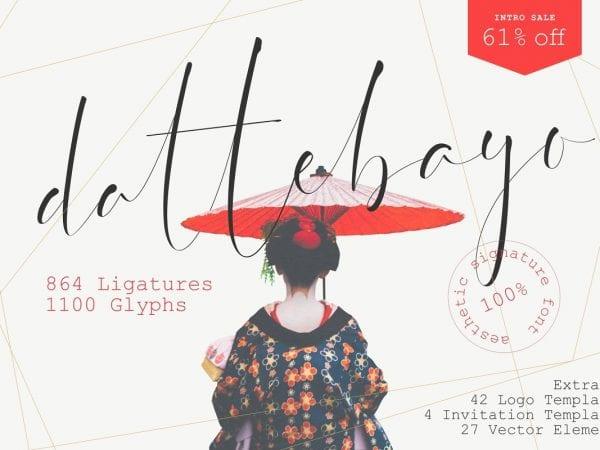 Dattebayo Signature Script Font