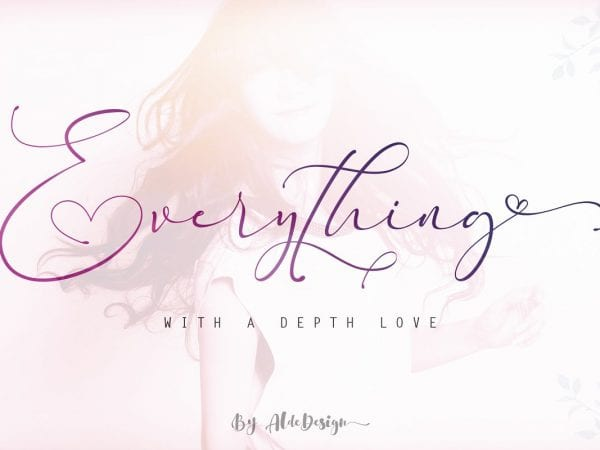 Everything Handmade Calligraphy Font