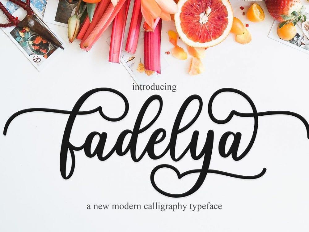 Fadelya Handmade Calligraphy Font