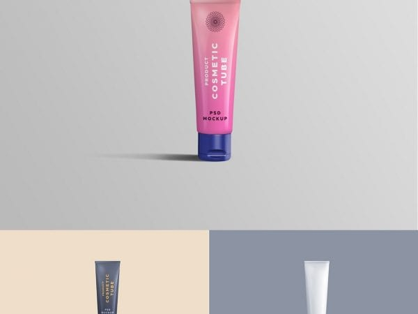 Free Cosmetic Tube Mockup PSD Template