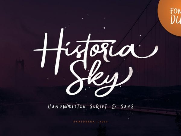 Historia Sky Handwritten Script Font