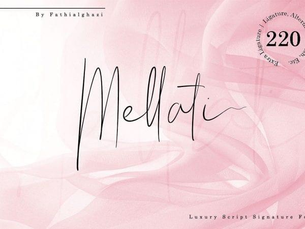 Mellati Handwritten Signature Font
