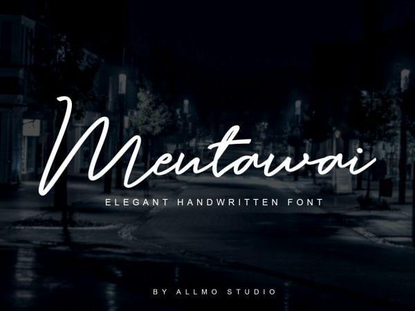 Mentawai Handwritten Signature Font