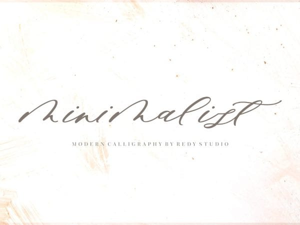 Minimalist Calligraphy Script Font