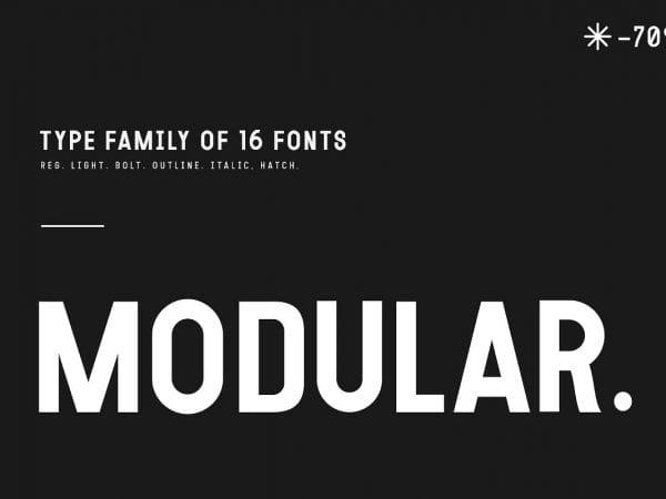 Modular - Elegant Sans Serif Typeface