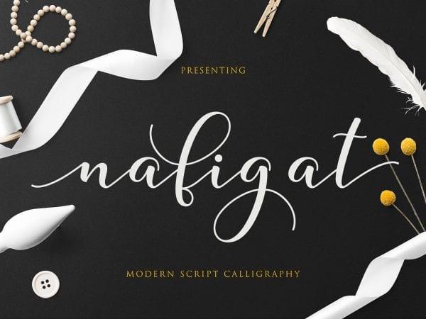 Nafigat Modern Calligraphy Script Font