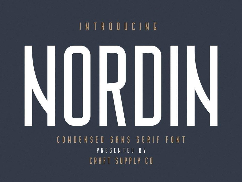 Nordin - Modern Sans Serif Typeface