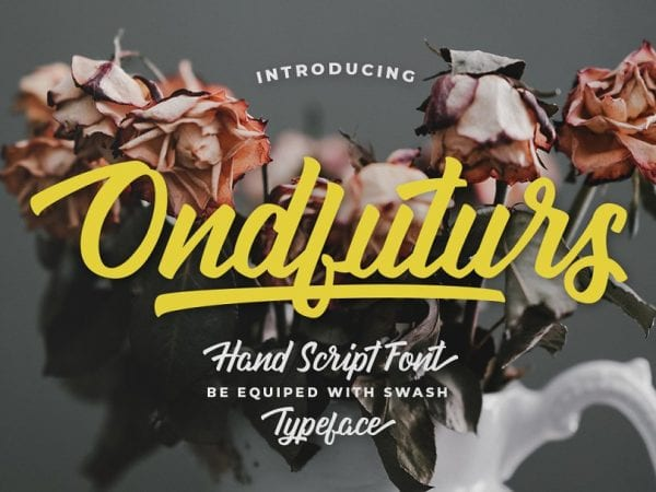 Ondfuturs Calligraphy Brush Script Font
