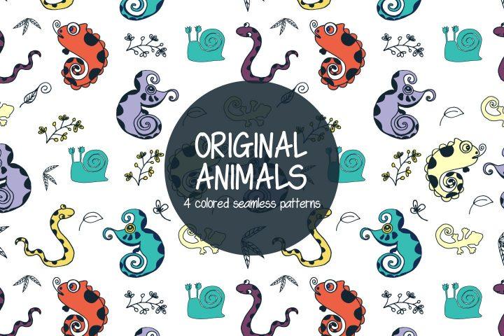 Pack Of Original Animals Illustration Patterns