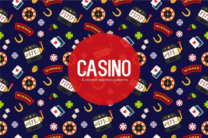 Pack of 4 Colored Casino Pattern 1