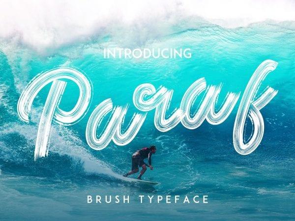 Paraf Brush Script Typeface