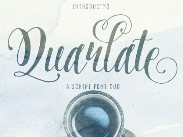 Quarlate Handwritten Calligraphy Font