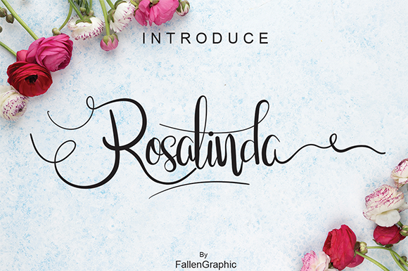 Rosalinda Calligraphy Script Font
