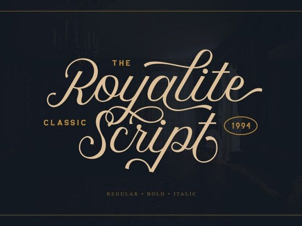 Royalite Calligraphy Script Font
