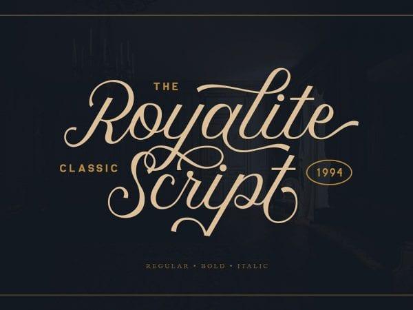 Royalite Calligraphy Script Font