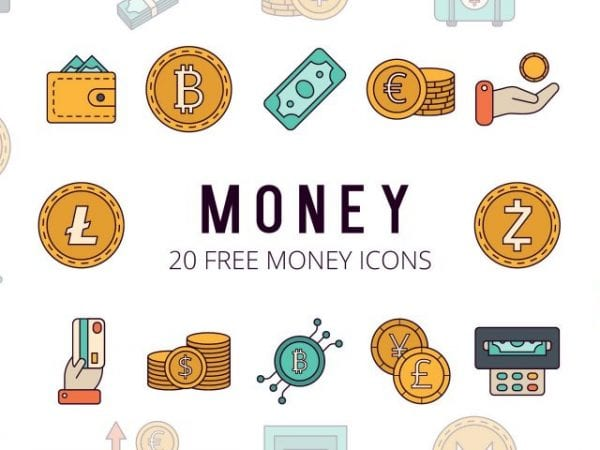 Set Of 10 Free Money Icon