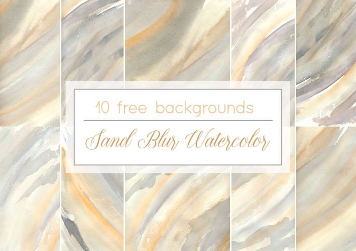 Set Of 10 Free Sand Blur Watercolor Background