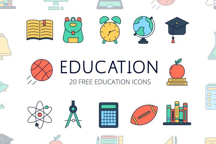Set Of 20 Free Education Icons Mockup Free Downloads